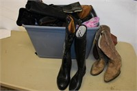 Tote of Assorted Boots