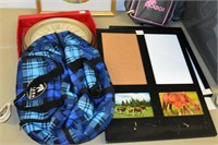 Tote of Frames & Assorted Horse Items