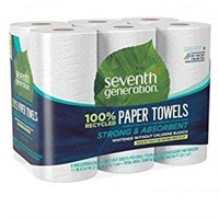 4 PACKS OF 6 PIECES SEVENTH GENERATION PAPERTOWELS