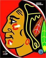 CHICAGO BLACKHAWKS LOGO PHOTO DISPLAY