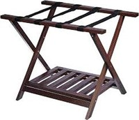 WOODEN FOLDING RACK STAND AND SHELF