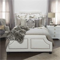 """RIZZY HOME COTTON 90"""" X 92"""" TAUPE SOLID BEDDING"""
