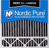 NORDIC PURE MERV 12 + CARBON FILTER 20X20X5