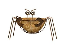 "PANACEA CRAB PLANTER WITH 10"" COCOLINER"