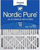 NORDIC PURE MERV 12 FURNACE AIR FILTER- 2 PACKS