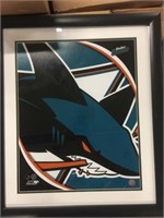NHL SAN JOSE SHARKS LOGO PORTRAIT WITH