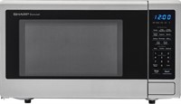 SHARP CAROUSEL MID SIZE MICROWAVE STAINLESS STEEL