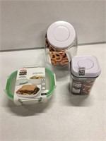 ASSORTED FOOD CONTAINERS