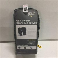 EVERLAST WRIST WRAP AND HEAVY BAG GLOVES