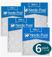 NORDIC PURE AC FURNACE FILTERS 6-PACK 20X20X1