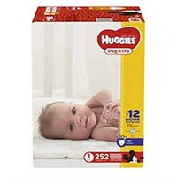 HUGGIES SNUG & DRY DIAPERS SIZE 1 252 COUNT