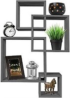 GREENCO INTERSECTING SQUARES FLOATING SHELF