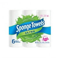 SPONGE TOWELS (1 PACK WITH 6 ROLLS)