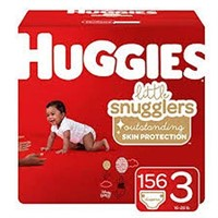 HUGGIES LITTLE SNUGGLERS DIAPERS SIZE 3 156 COUNT