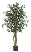 NEARLY NATURAL FICUS SILK TREE 4'