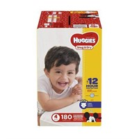 HUGGIES SNUG & DRY DIAPERS SIZE 4 180 COUNT
