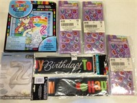 ASSORTED PARY CELEBRATION ITEMS