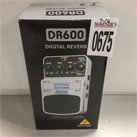 DR600 DIGITAL STEREO REVERB EFFECTS PEDAL
