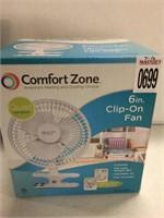 COMFORT ZONE 6IN CLIP-ON FAN