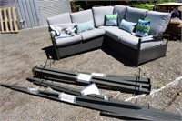 Hampton Bay Sectional Seating Set with Pergola