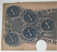 1862 $10 Confederate Note