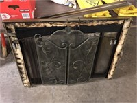 FIRE PLACE SCREEN AND FACEPLATE