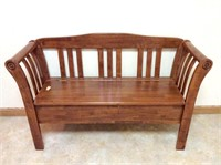 Mission Style Bench with Storage