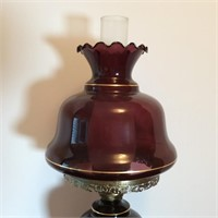 Amethyst Glass Gone with the Wind Lamp