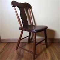 Antique Plank Bottom Chair
