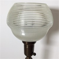 Brass Lamp with Halothane Globe