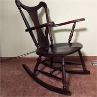 Antique Plank Bottom Rocking Chair