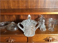6 pcs of Antique Press Glassware
