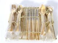 Set of  Golden Barclay St Moritz Flatware Set