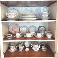 Lot of Decorated Plates, Cups & Saucers, Haviland