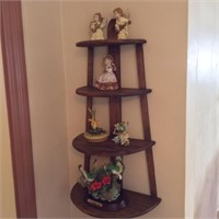 Wall Display Shelf with Contents