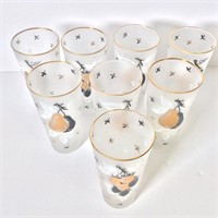 Set of  Eight 1950s Tumblers