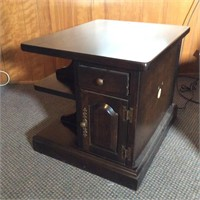 End Table with Drawer and Bookshelves