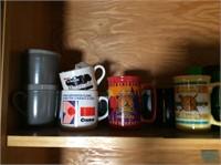 Cupboard Lot of Glassware, Barware