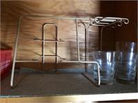 Cupboard Lot, Knives, Baskets, Misc
