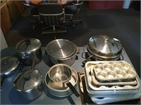 Lot of Assorted Pots, Pans, Bakeware