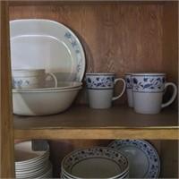 Cupboard Lot of Dishware