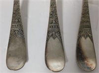 6 Early Silver Plate Tablespoons