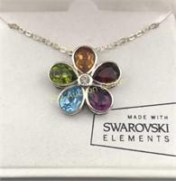 Silver Sparkle shine Swarovski Elements