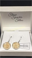 Swarovski golden jewel earrings