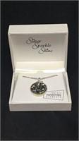 Swarovski gray pendant necklace
