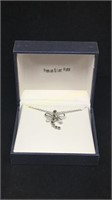 Premium silver plated dragonfly necklace with