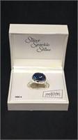 Silver sparkle shine ring