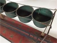 Antique Child's Tin Snapball Game
