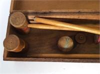 Antique Child's Croquet Set