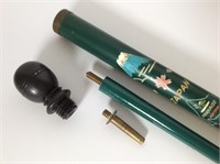 1950s  Carved Pool Cue Cane